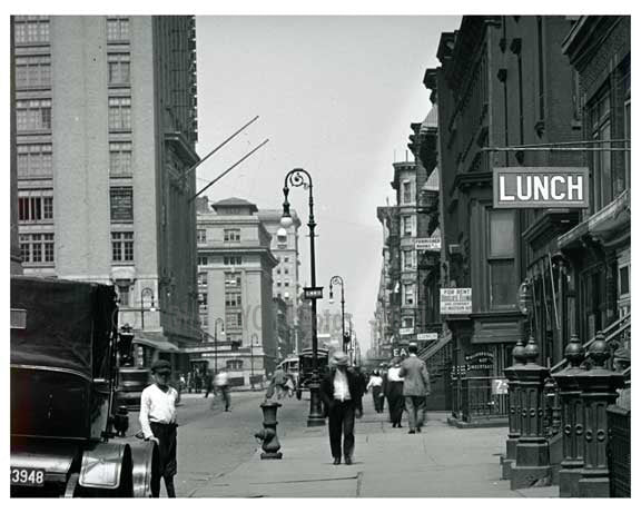 Lexington Avenue & 44th Street - Midtown -  Manhattan NYC 1913 Old Vintage Photos and Images