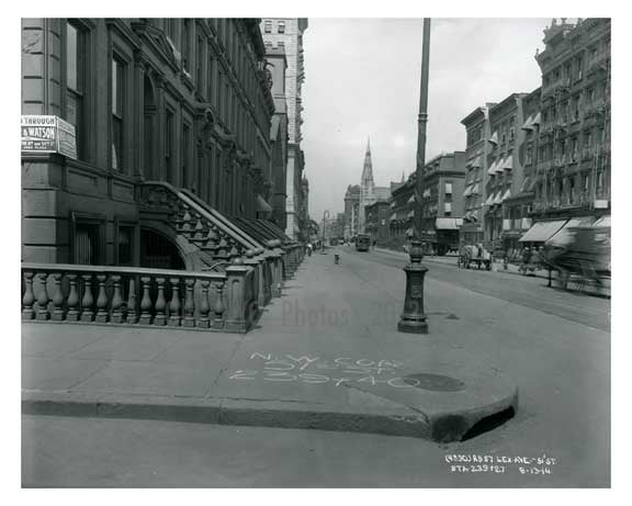 Lexington Avenue  & 51st Street - Midtown -  Manhattan NYC 1914 NYC Old Vintage Photos and Images