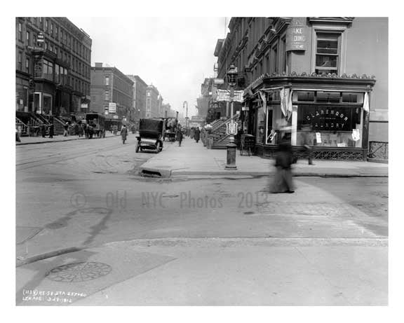 Lexington Avenue & 58th Street 1912 - Midtown Manhattan NYC B Old Vintage Photos and Images
