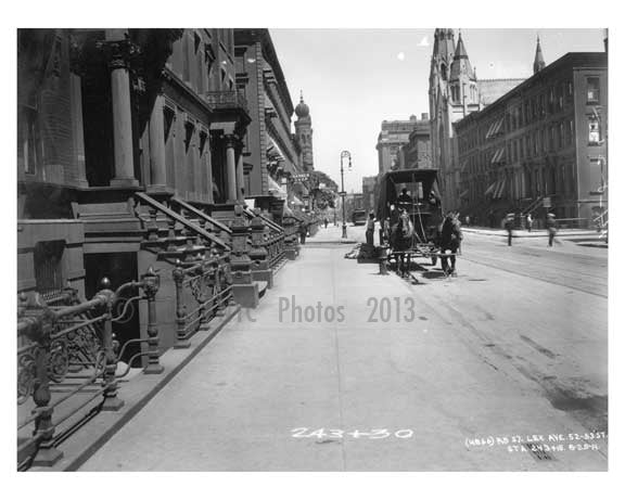 Lexington Avenue between 52nd & 53rd Streets - Midtown -  Manhattan NYC 1914 A Old Vintage Photos and Images