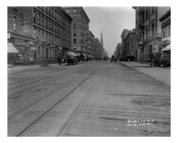 Lexington Avenue & East 84th Street 1911 - Upper East Side, Manhattan - NYC H5 Old Vintage Photos and Images
