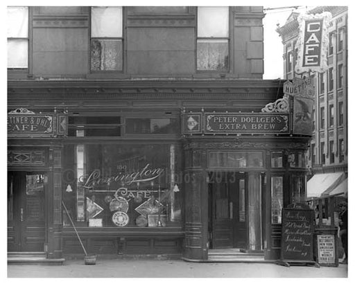 """Lexington Cafe"" 150 Lexington Avenue & 30th Street 1912 - Kips Bay Manhattan NYC Old Vintage Photos and Images"