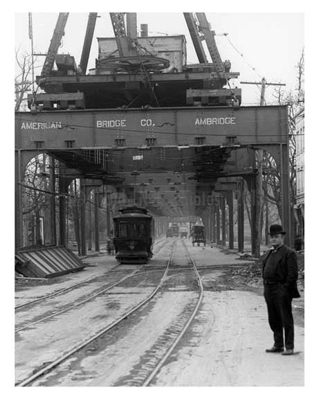 "Liberty Ave  ""El"" under construction 1916- Richmond Hill - Queens NY Old Vintage Photos and Images"