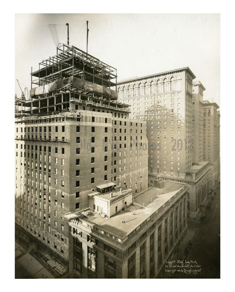Liggett Bldg Iron Work 42nd Street & Vanderbilt Avenue 1921 Old Vintage Photos and Images