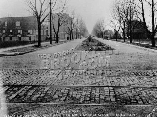 Linden Avenue (Boulevard), west from Utica Avenue, January 21, 1924 Old Vintage Photos and Images