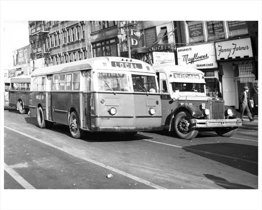 Local Transit' - Jersey City Bus 1948 NJ A Old Vintage Photos and Images