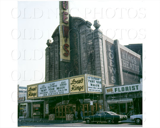 Loew's Kings Theater Flatbush Brooklyn, NYC 1970 Old Vintage Photos and Images