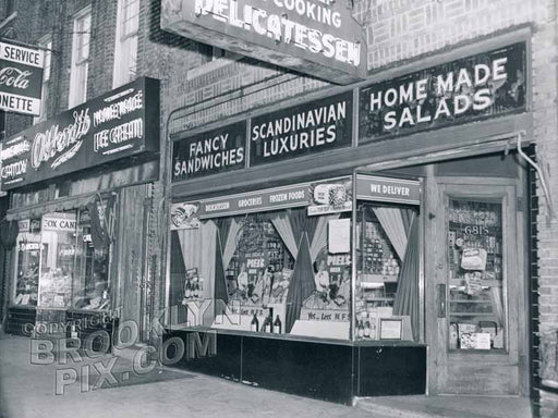 Lohse's Scandinavian Deli, 6816 Third Avenue, 1952 - next to Ottens on the left