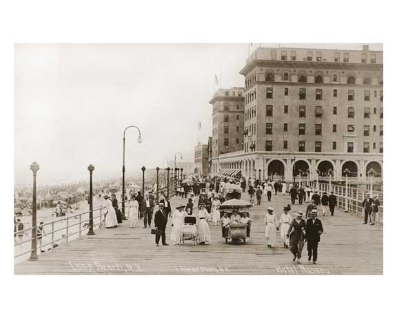 Long Beach Boardwalk 1912 -  Long Island, NY Old Vintage Photos and Images