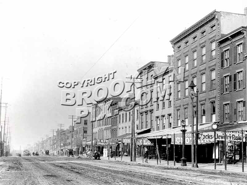 Long view of Atlantic Avenue looking west from Clinton Street toward Henry Street, circa 1895 Old Vintage Photos and Images