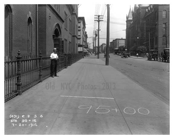 Looking down Bushwick Avenue to Ten Eyck Street - Williamsburg - Brooklyn, NY 1916 A Old Vintage Photos and Images