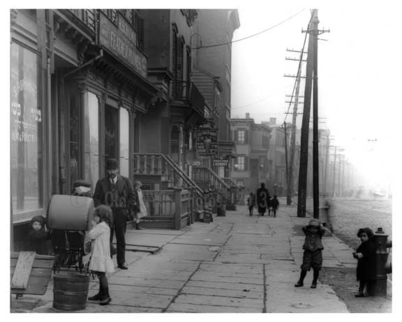 Looking down Metropolitan to Lorimer - Williamsburg Brooklyn, NY 1916 C Old Vintage Photos and Images