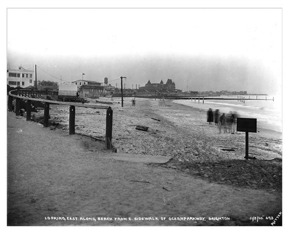 Looking east along the beach 1920 Old Vintage Photos and Images