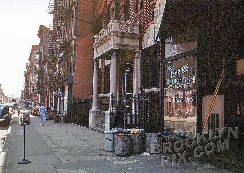 Looking from 128 Boerum Street, 1951 Old Vintage Photos and Images