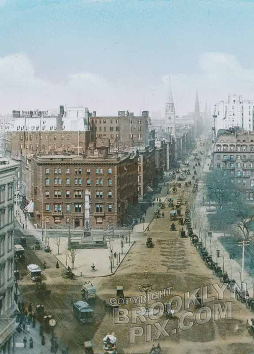 Looking north along Broadway and Fifth Avenue from Madison Square, 1868 Old Vintage Photos and Images