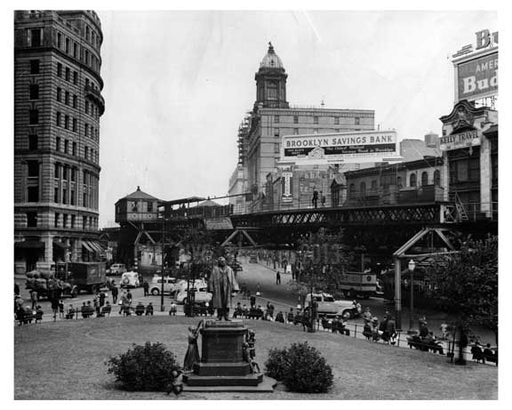 Looking north from Borough Hall steps toward Civic Center 1940 Old Vintage Photos and Images