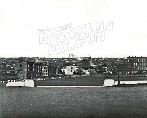 Looking north from Ft. Greene Park toward Myrtle Avenue and Ft. Greene Place, c.1884 Old Vintage Photos and Images