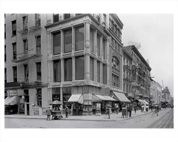 Looking North on 6th Ave facing West 39th Street 1909 Old Vintage Photos and Images