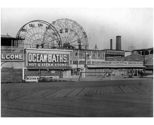 Looking Northeast from boardwalk near W.12th Street Old Vintage Photos and Images