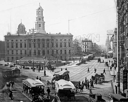Looking south from Court and Fulton Streets, 1880s Old Vintage Photos and Images