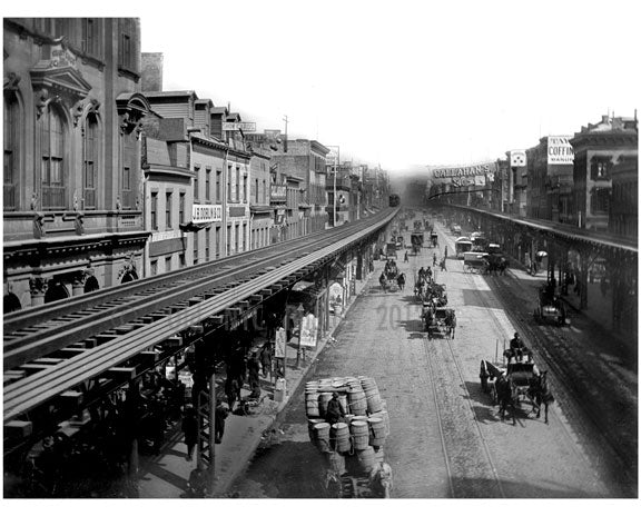 Looking south on The Bowery near Grand Street 1887 Old Vintage Photos and Images