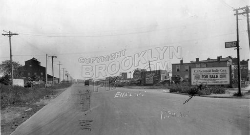 Looking southeast on Remsen Avenue from East New York Avenue, 1928 Old Vintage Photos and Images