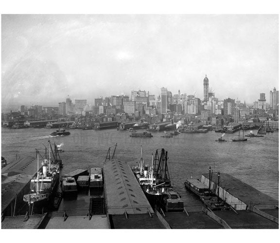 Looking at Manhattan from Brooklyn Old Vintage Photos and Images