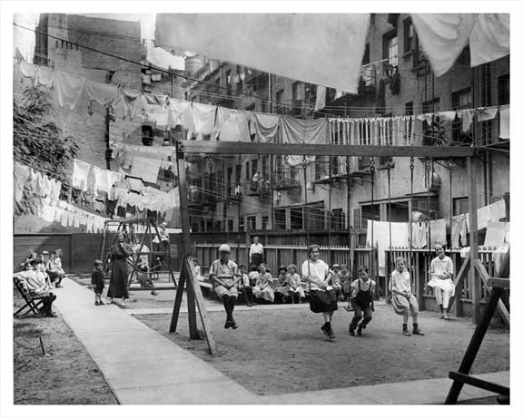 Lower East Side Courtyard 1915 Old Vintage Photos and Images