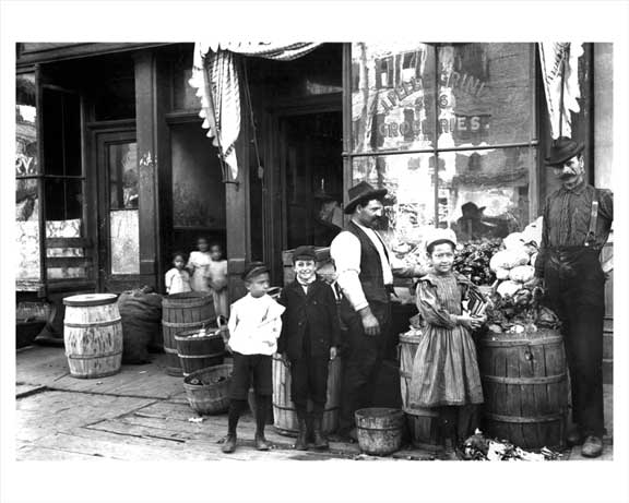 Lower East Side Grocery Store 1907 Old Vintage Photos and Images