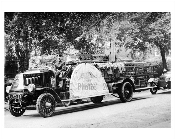 Lynbrook fire truck Old Vintage Photos and Images