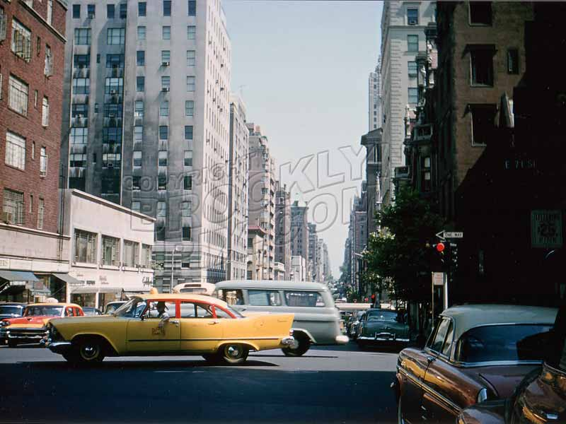 Madison Avenue, north from East 71st Street, August 1958 Old Vintage Photos and Images