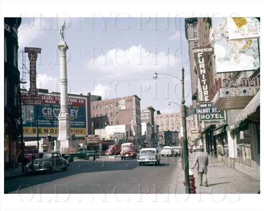 Main & Talbot Street Nofolk VA 1955 Old Vintage Photos and Images