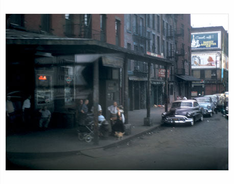 Outside a bar in Midtown Manhattan circa 1950 - New York, NY Old Vintage Photos and Images