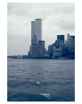 WTC as seen from the East River - Manhattan Old Vintage Photos and Images