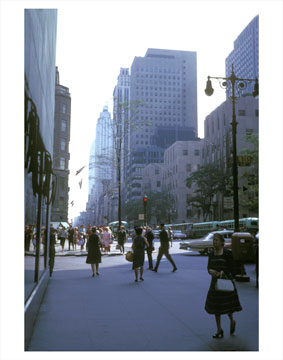 Manhattan 5th Ave &  East 51st 1964 Old Vintage Photos and Images