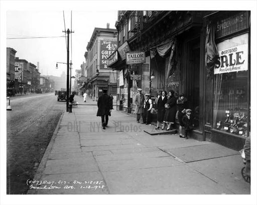 Manhattan Ave & Freeman Street  - Greenpoint Brooklyn NY 1928 Old Vintage Photos and Images