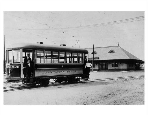 Manhattan Beach trolley Old Vintage Photos and Images