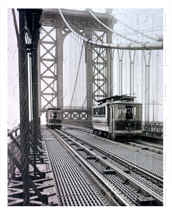 Manhattan Bridge 1917 Trolley Old Vintage Photos and Images