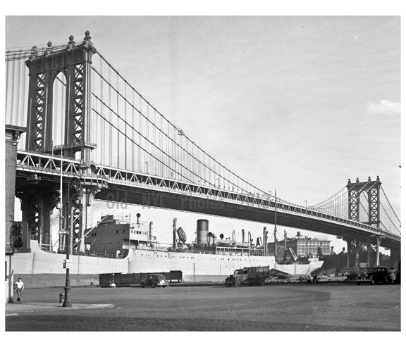 Manhattan Bridge 1955 Old Vintage Photos and Images