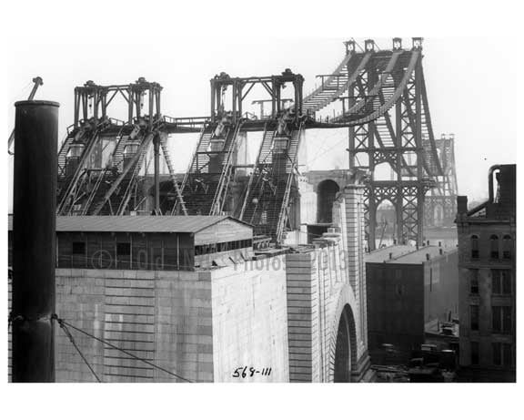 Manhattan Bridge  under construction 1908 - Brooklyn, NY A
