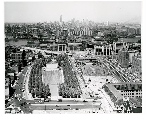 Manhattan Bridge  with Aerial view from Brooklyn Old Vintage Photos and Images