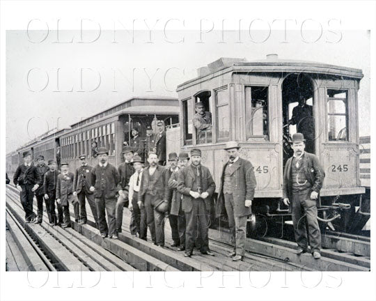 Manhattan Elevated Railway 1895 Old Vintage Photos and Images