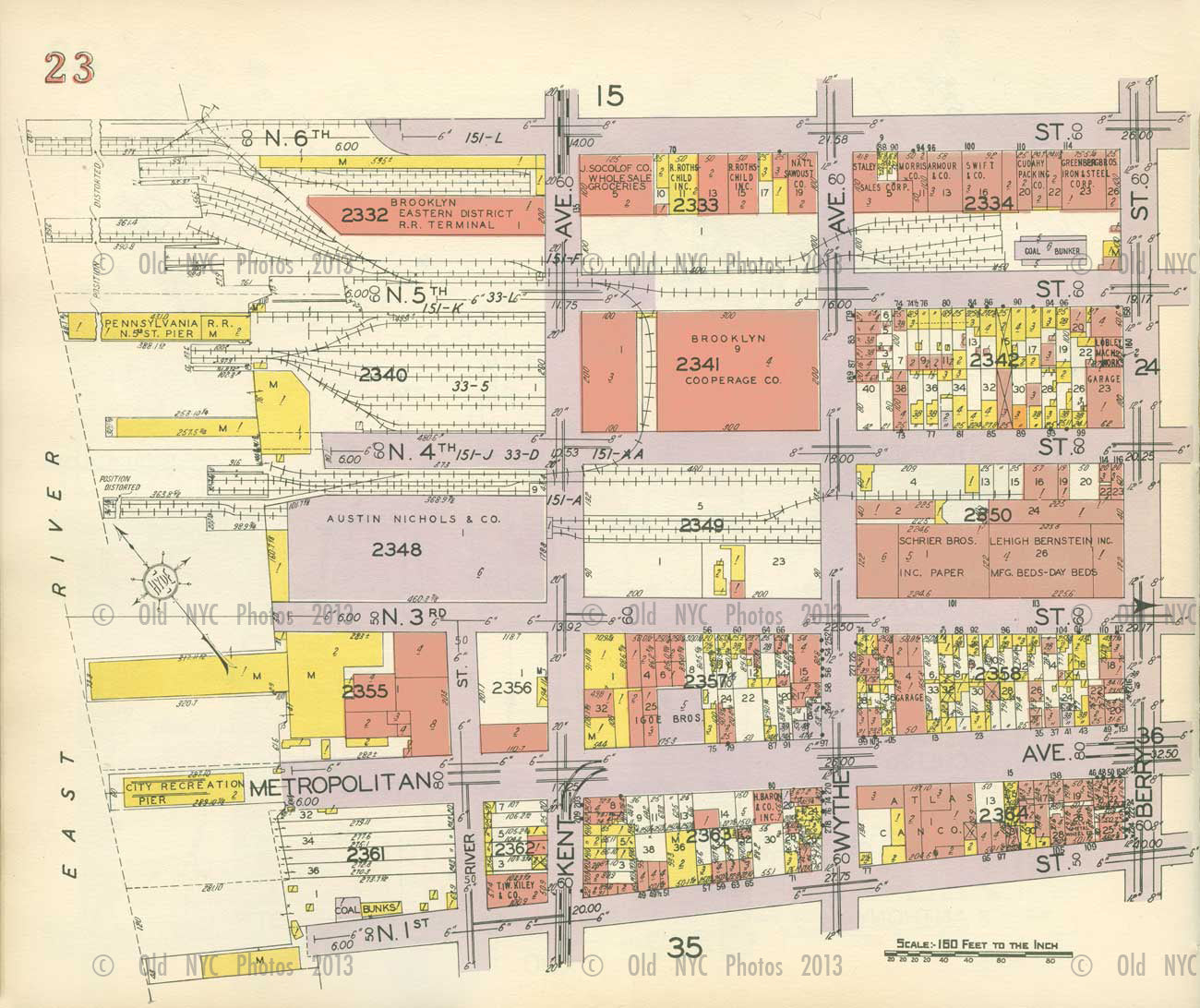 Map of Willamsburg Old Vintage Photos and Images