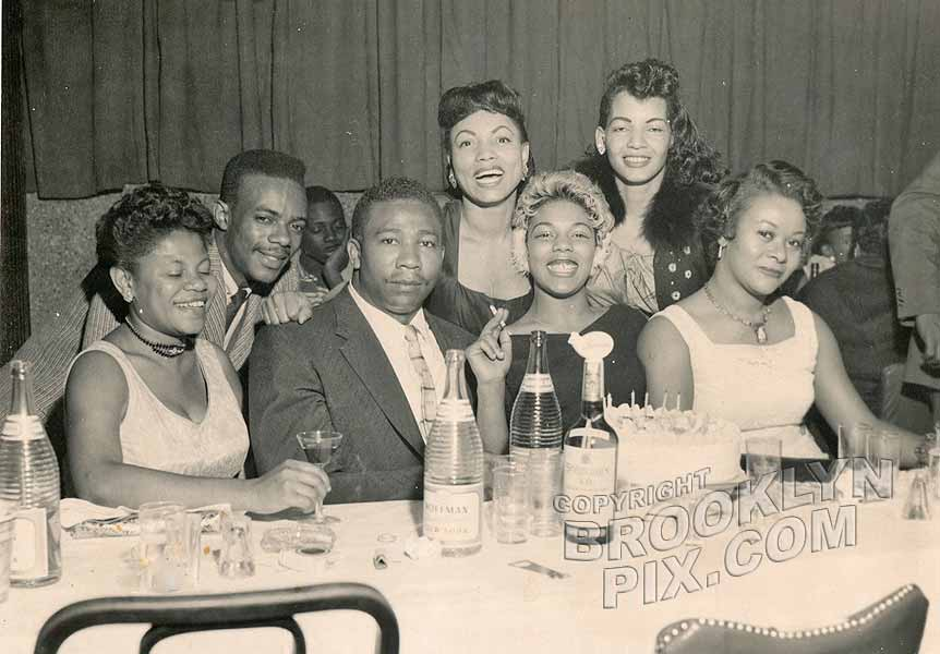 Scene at Club Baby Grand, 1274 Fulton Street, 1950s