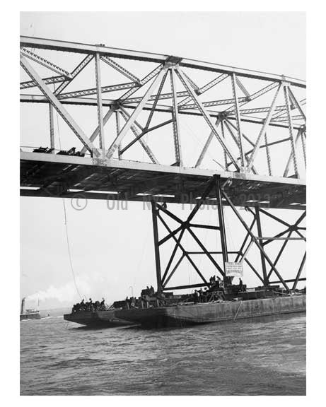 Marine Parkway Bridge - under construction - 1936 Queens, NY Old Vintage Photos and Images