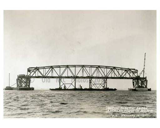 Marine Parkway Bridge - under construction - 1937 Queens, NY A