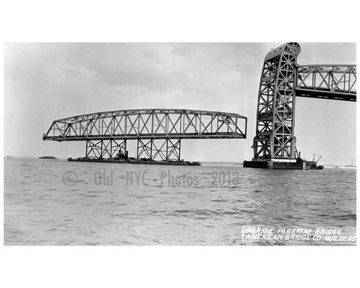 Marine Parkway Bridge - under construction - 1937 Queens, NY Old Vintage Photos and Images