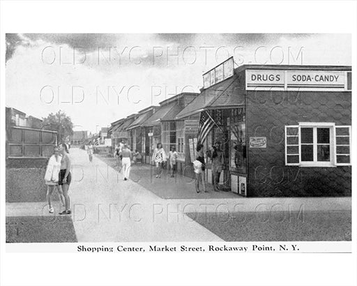 Market Street Breezy Point Rockaway Shopping Center 1940s Old Vintage Photos and Images