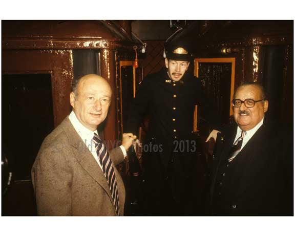 Mayor Ed Koch at Subway event 1980 Old Vintage Photos and Images