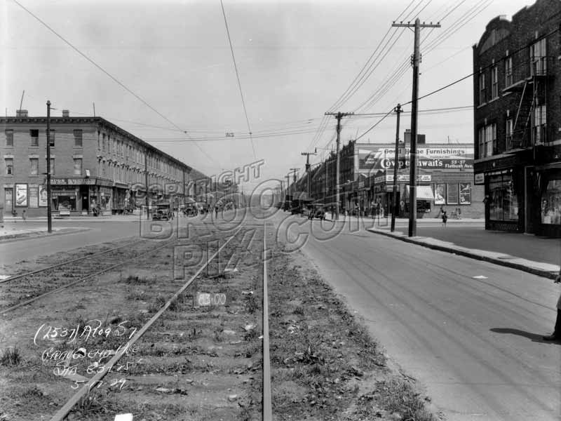 McDonald Avenue looking north to Avenue C, 1929 Old Vintage Photos and Images